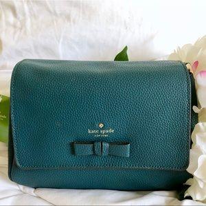 Kate Spade ♠️ NWT Teal Leather Crossbody Bag